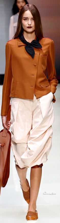 Emporio Armani Spring 2016 women fashion outfit clothing style apparel @roressclothes closet ideas