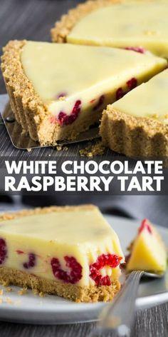 Chocolate And Raspberry Tart, Raspberry Tarts, Raspberry Recipes, Chocolate Tarts, White Raspberry, White Chocolate Recipes, Raspberry Cupcakes, Baking Chocolate, Tart Recipes