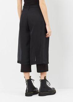 Noir Kei Ninomiya Double Layer Culotte (Black)