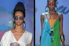 Homenageando os refugiados e africanos, o estilista Ronaldo Fraga trouxe as referências culturais de... - Fotos: Zé Takahashi / Agência Fotosite