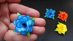 Rosen basteln mit Papier - Kleine Blumen als DIY Deko & Geschenk  Origa...