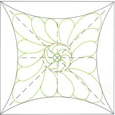 A small circle was added to the middle of The Ultimate Shape and both areas were filled with free form feathers.  The arches would be beautiful filled with repetitive lines.