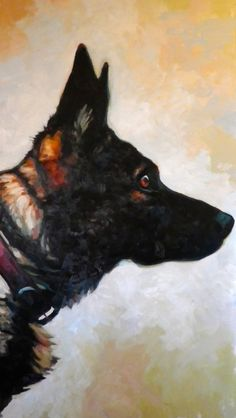 "Saatchi Art Artist: thomas saliot; Oil 2013 Painting ""The dog"""