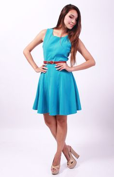 Giselle Skater Dress (Blue) S$32   from: PERFASHIONIST.sg