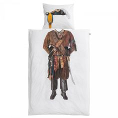 Buy Snurk Pirate Single Duvet Cover and Pillowcase Set from our Children's Bedding Sets range at John Lewis & Partners. Bedding Sets Online, Duvet Bedding Sets, Pirate Bedding, Holland, Pirate Movies, Big Shark, Pirate Kids, Single Duvet Cover, Childrens Beds
