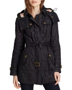 Burberry Finsbridge Long Quilted Coat | Bloomingdale's