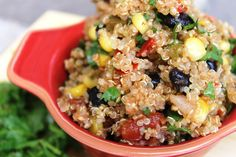 Super easy southwestern quinoa recipe