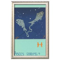 I pinned this Pisces, The Fish - Art.com from the Zodiac: Pisces event at Joss and Main!
