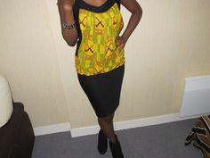 www.cewax.fr aime HAUT KANGOUROU EN WAX MOTIF KINTE : T-Shirt, debardeurs par kmoa-design