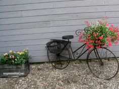30 Garden container ideas   Plant a bike
