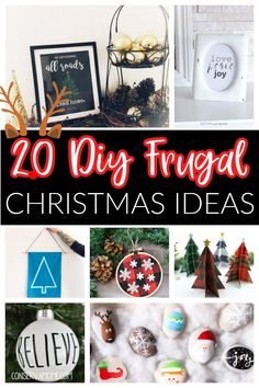 Check out these 20 DIY Frugal Christmas Ideas to save you money. That will help you make some great Christmas projects without breaking the bank. Easy and Inexpensive and fun to make. #FrugalChristmas #DIYChristmas Frugal Christmas, Diy Christmas Decorations Easy, Diy Crafts For Home Decor, Christmas Projects, Holiday Fun, Christmas Holidays, Christmas Ideas, Holiday Themes, Christmas Recipes