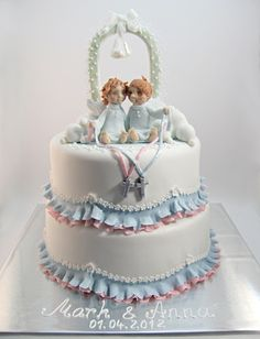 Twin Christening cake
