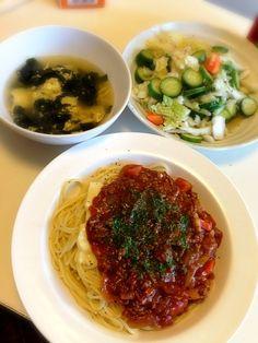 久々の料理。体調悪いから旦那作、私が横で指導しました♪ - 4件のもぐもぐ - ハヤシパスタと白菜サラダ by norimoga
