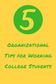 Working college students have a lot of priorities to juggle and it can be difficult to stay organized. Check out these tips to help you stay on the ball.