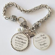 Mother Of The Bride Bracelet Wedding Keepsake Gift Gifts For