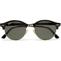 Ray-Ban Clubround acetate and metal sunglasses Ray Ban Sunglasses Outlet, Clubmaster Sunglasses, Sunglasses Women, Summer Sunglasses, Trending Sunglasses, Mirrored Sunglasses, Ray Ban Sale, Ray Ban Eyewear, Ray Ban Glasses