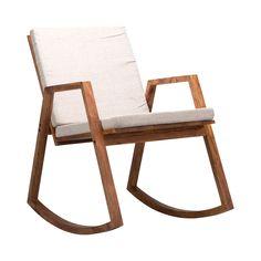 Narran Rocking Chair in Light Gray | dotandbo.com