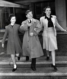 miss-shirley-temple:  Shirley Temple, Mickey Rooney and Judy Garland at MGM, 1940s.