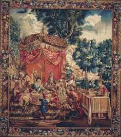 GFA Tapestry V-88 - GFA Tapestry V-88  Material: Wool  Construction: Tapestry Flat-Weave  Description: The Ancient art of weaving antique Tapestries has dated as far back as the 14th century. These ancient masterpieces were once originally decorative paintings done by famous artists. Master weavers transformed these paintings into beautiful pieces of woven art. Each Gallerie One tapestry is woven using only the finest wools, silks and dyes, requiring up to 250 shades of wool and up to ...