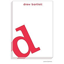Alphabet Cherry on White Large Notepad  as low as 1 for $30