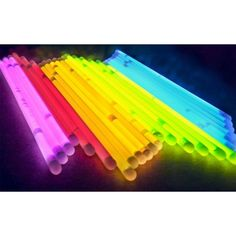 100 glow sticks with 100 bracelet connectors to make the sticks into bracelets. Great Halloween party accessory or a nice treat to hand out to trick or treaters. Halloween Masks, Halloween Party, Party Wholesale, Glow Bracelets, Glow Sticks, Neon Colors, Green And Orange, Different Colors, Party Supplies