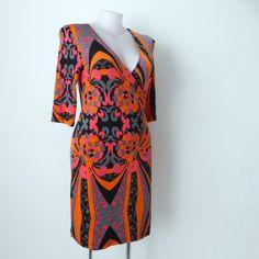 CHARLIE BROWN Dress 3/4 Sleeve Wrap Jersey Size 12 - 16 (US 8 - 12) NEW | eBay Australian Fashion Designers, Brown Dress, Charlie Brown, Wrap Dress, Size 12, Sleeves, Ebay, Dresses, Vestidos
