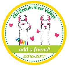 Recruit a friend to Girl Scouts and get a Patch! Girls Spreading, Girl Scout Juniors, Daisy Girl Scouts, Brownie Girl Scouts, Valley Girls, Daisies, Brownies, Badge, Patches