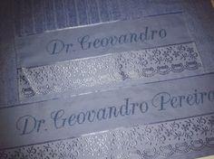 Jogo de toalha de banho e rosto. Dr Geovandro Pereira