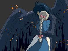 Howl's Moving Castle An animated fantasy masterpiece from Hayao Miyazaki and Studio Ghibli. Seems to suit the bizarre mood of Hayao Miyazaki, Studio Ghibli Films, Art Studio Ghibli, Howl's Moving Castle, Totoro, Film Animation Japonais, Animation Film, Manga Anime, Anime Art