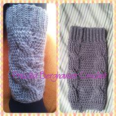 Polaina de croche com trança / Crochet Cable legwarmers