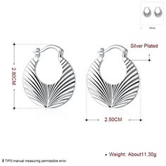 Aliexpress.com : Buy Big solid 925 stamped silver plated clip earring 2015 New supplies earrings fashion high quality from Reliable earrings channel suppliers on Rose Fashion Jewelry CO., LTD.