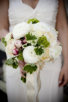 love the ranunculus in this bouquet