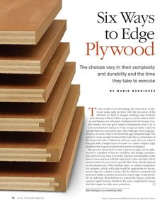 Six ways to edge plywood #WoodworkCrafting #woodworktechniques