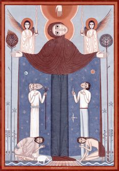 Witnesses Theotokos contemporary icon 2015-2016 | Nikola Saric