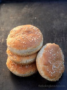 Gluten Free Hot Dog or Hamburger Buns from The Baking Beauties dry milk=almond flour