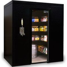 Walk In Cooler- Brew Cave Walk-In Beverage Cooler Kegerator