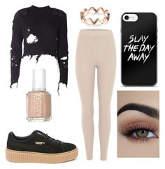 """""""c for crop top."""" by sonjahancke ❤ liked on Polyvore featuring adidas Originals, Puma and Essie"""