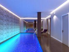 Stunning swimming pool basement conversion