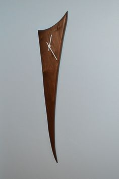 Walnut Stake Clock by Steve Uren: Wood Clock available at www.artfulhome.com