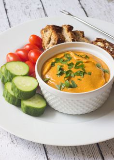 This creamy #vegan fondue recipe is made with cooked chickpeas, and is delicious and savory. Perfect served with bread, steamed broccoli and crunchy raw veggies.