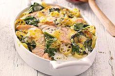 Nudelauflauf mit Spinat und Lachs, ein schönes Rezept aus der Kategorie Gemüse. Bewertungen: 321. Durchschnitt: Ø 4,3.