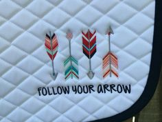Follow Your Arrow - Embroidered All-Purpose Saddle Pad on Etsy, $37.00