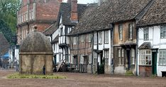 Lacock, Wiltshire, owned almost entirely by the National Trust and used in many tv /film sets.