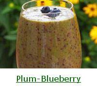 Plum-Blueberry Green Smoothie