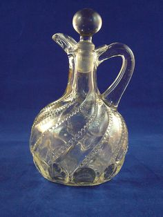 OLD Elegant Glass Cruet by JulianosCorner on Etsy, $20.00