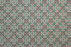 Green and Brown Geometric Vintage Wallpaper