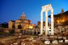 The Roman Forum at dusk