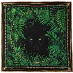Versace Panther Print Scarf
