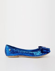 Blink Glitter Bow Ballet Pumps