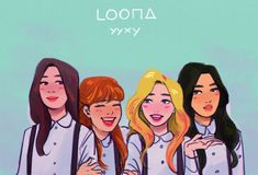 """jhulie ^ㅗ^  on Twitter: """"i wanted to doodle gowon but then it evolved.... i love yyxy... stan loona btw… """""""